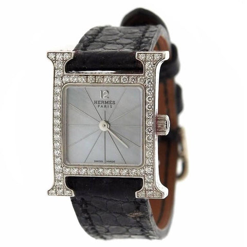 Lady's Hermes H Hour Diamond Watch