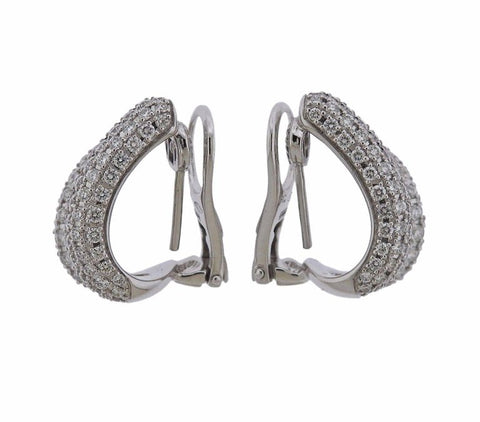 image of Roberto Coin Diamond Gold Cobra Snake Earrings