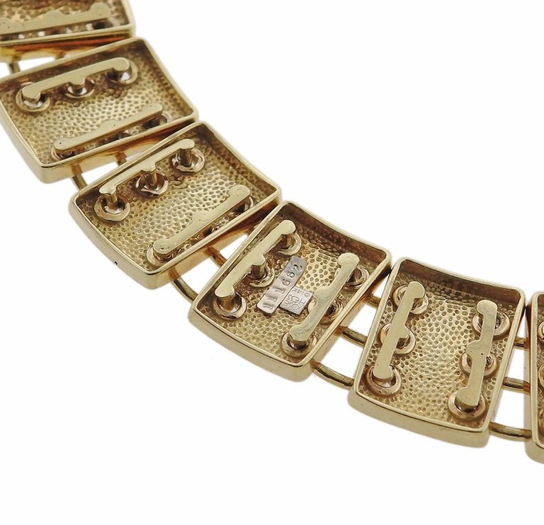 thumbnail image of Jose Hess Gold Link Necklace