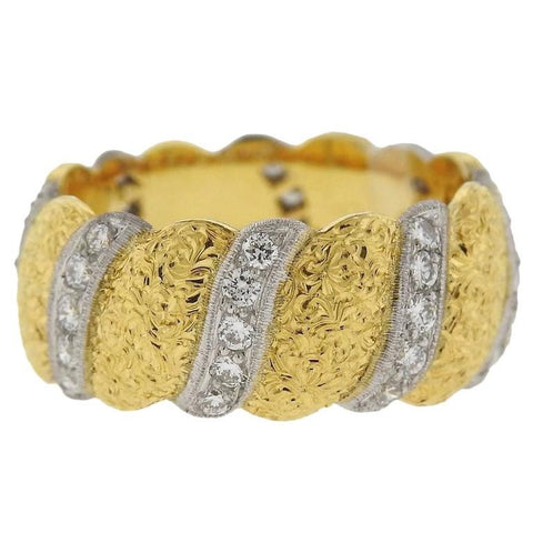 Buccellati Eternelle Diamond Gold Band Ring