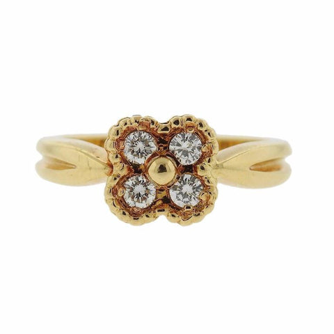 Van Cleef & Arpels Alhambra Diamond Gold Ring