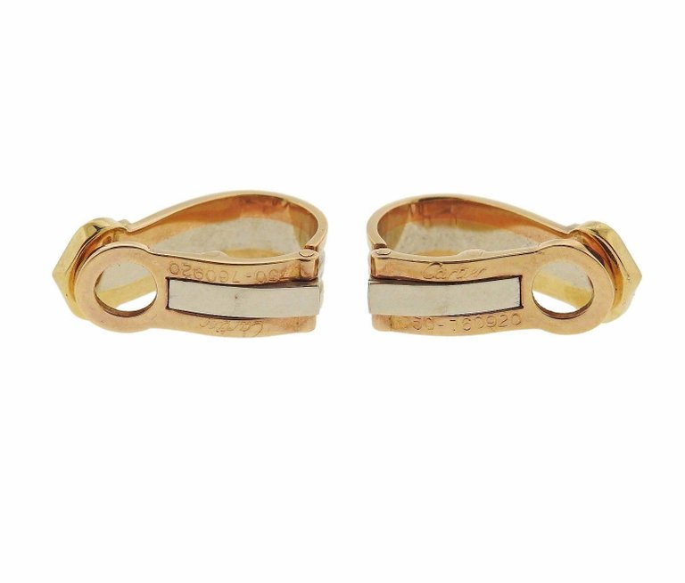 thumbnail image of Cartier CC Tri Color Gold Earrings