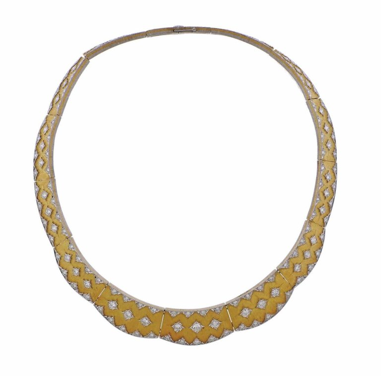 thumbnail image of Important Buccellati Diamond Gold Necklace