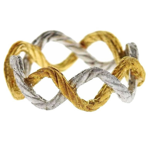 Buccellati Two Color Gold Braided Band Ring