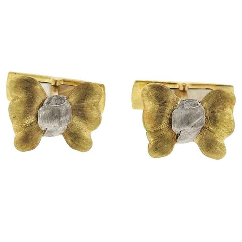 Buccellati Two Color Gold Bow Cufflinks
