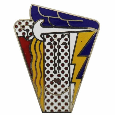 Roy Lichtenstein Metal Enamel Modern Head Large Brooch Pin