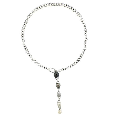 Mikimoto Gold Pearl Lariat Necklace