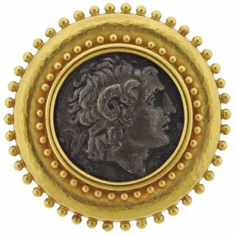 image of Elizabeth Locke Ancient Coin Gold Brooch Pin