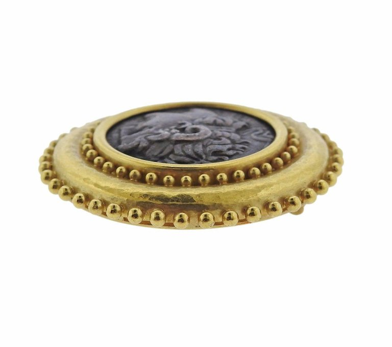 thumbnail image of Elizabeth Locke Ancient Coin Gold Brooch Pin