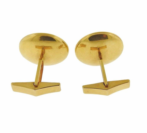 image of Ancient Roman Hardstone Intaglio Gold Archaeological Cufflinks