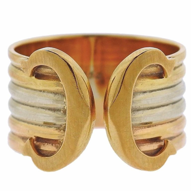 thumbnail image of Cartier CC Gold Cuff Ring