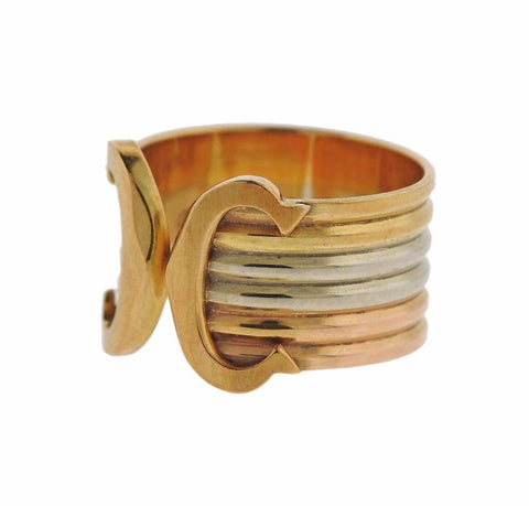 image of Cartier CC Gold Cuff Ring