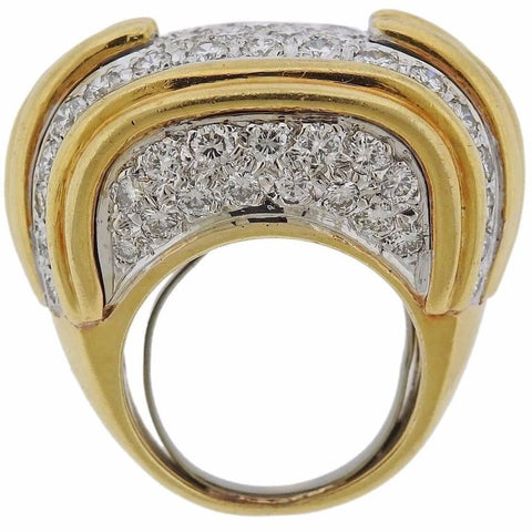 image of Diamond Pave Gold Cocktail Ring