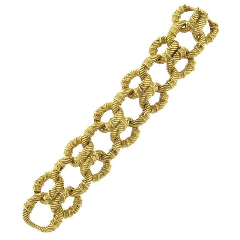 1960s Massive Gold Interlocked Link Bracelet
