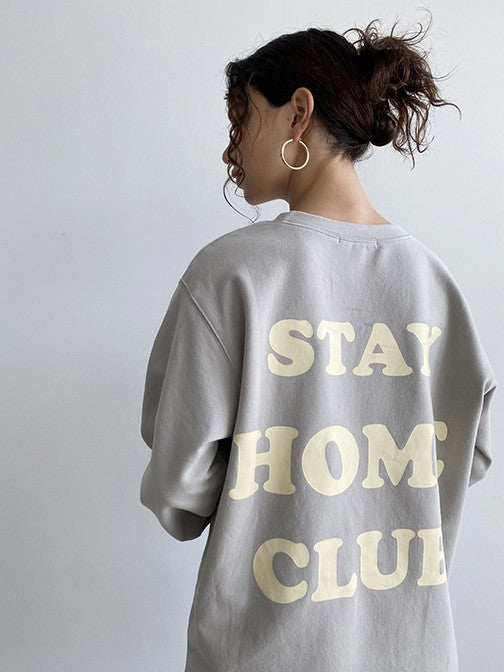 Stay Home Club Tee - Grey