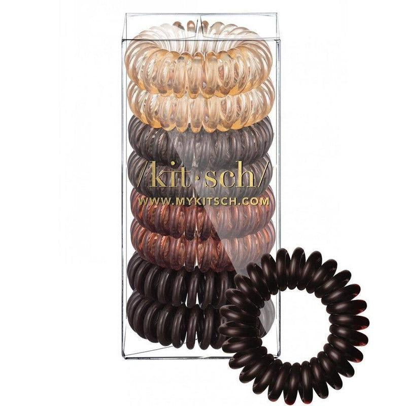 Brunette Hair Coils - 8 Pack