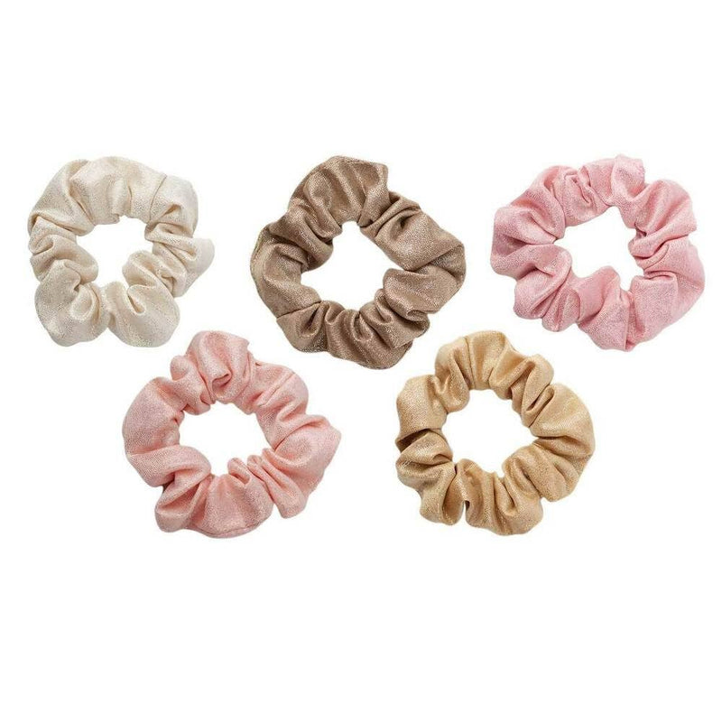 Blush & Mauve Metallic Scrunchies