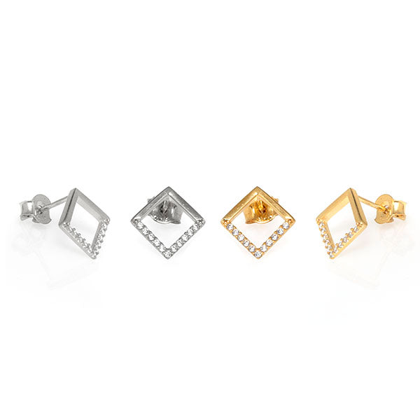 Open Diamond Studs