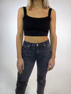 Basic Crop Tank - Black