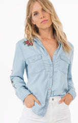 Safari Floral Embroidered Shirt