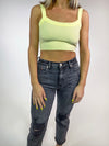 Basic Crop Tank - Lemon