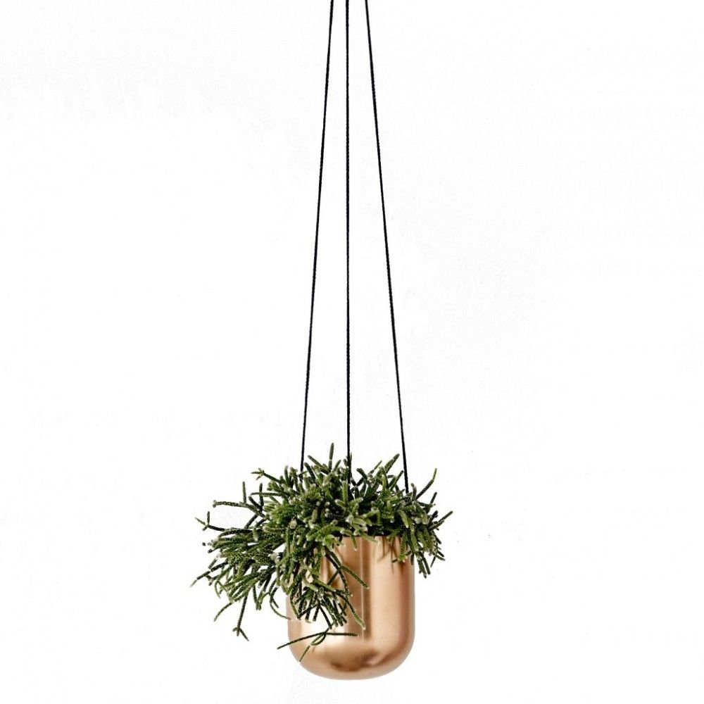 Copper Metal Hanging Planter
