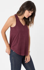 Z Supply Suede Swing Tank - Burgundy - BIRD BEE - 3