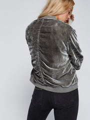 Ruched Velvet Bomber - Free People - BIRD BEE - 3