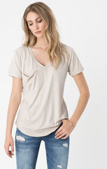 Z Supply Suede Pocket Tee - Ivory