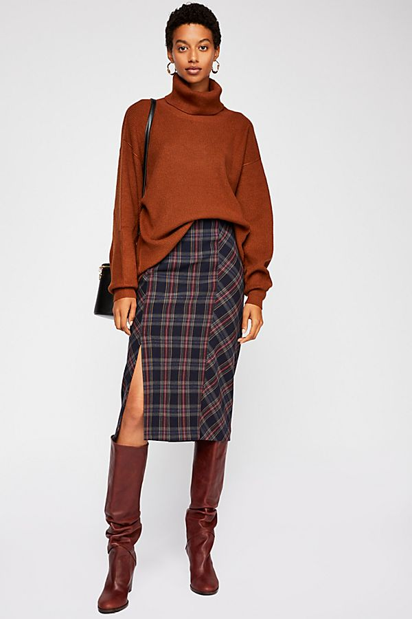 See You Glow Plaid Skirt