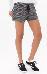 Striped Brushed Rib Shorts