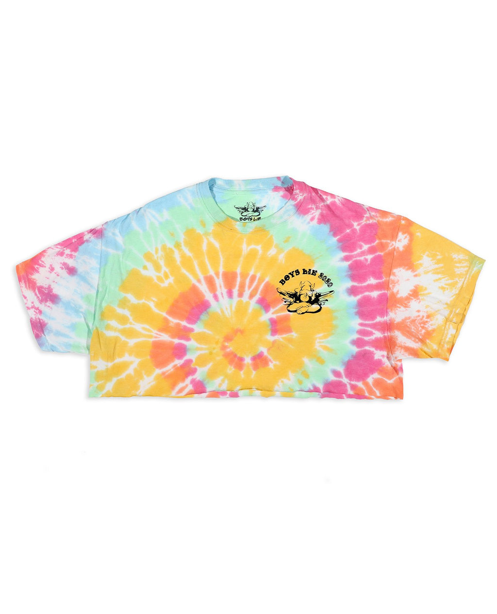 Boys Lie Within Us Cropped Tie Dye Tee