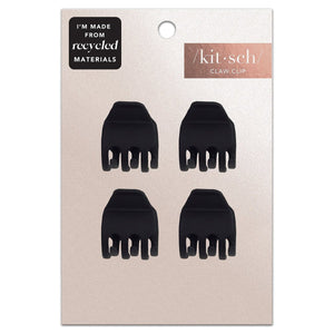 Eco Friendly Mini Claw Clips 4pc - Black