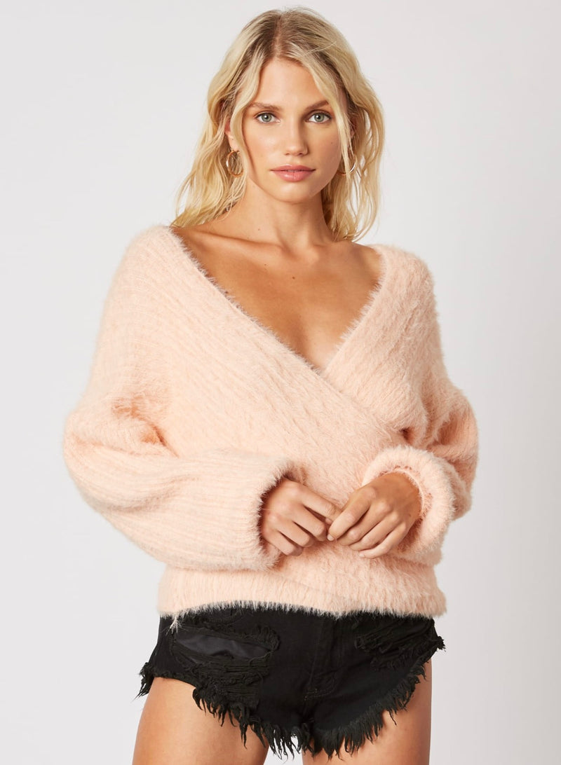 Cross Country Sweater - Peach