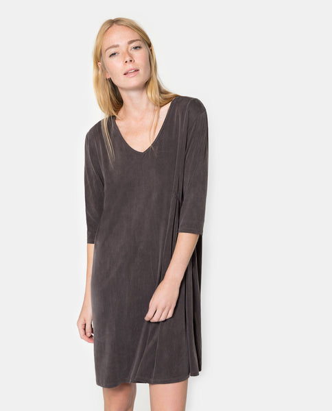 Coffee Brown Cupro Dress