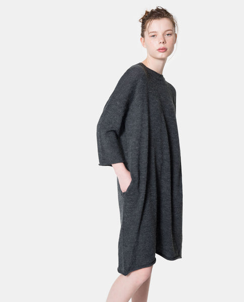 Tricot Oversized Pocket Dress