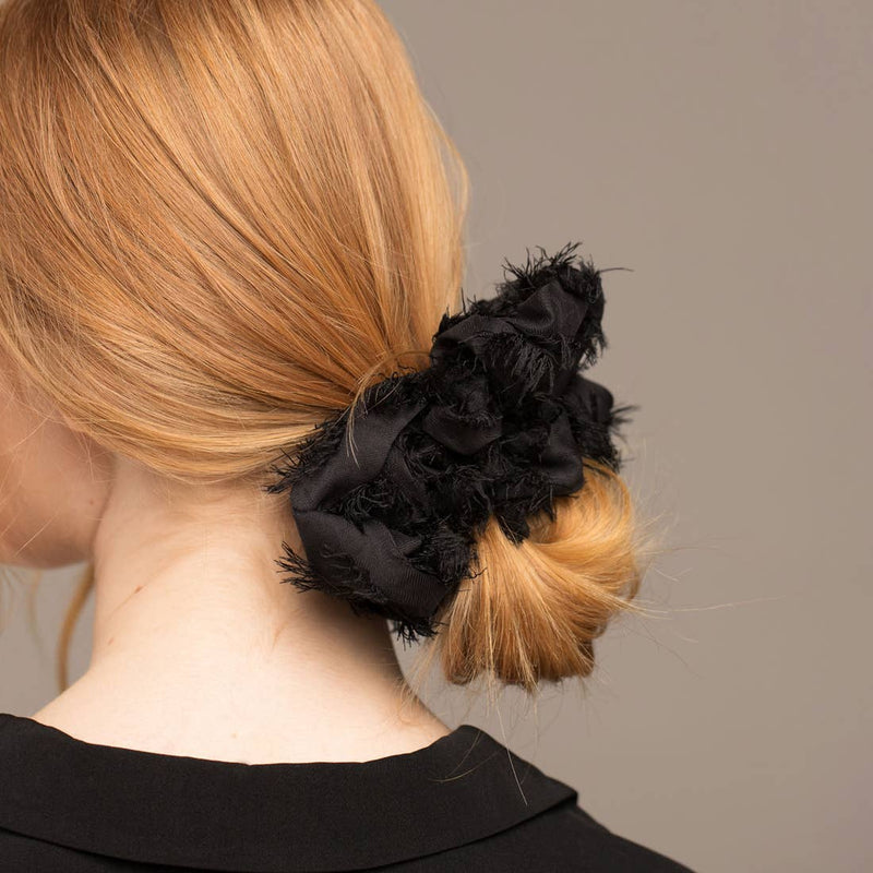 Brunch Scrunchie-Frayed Black