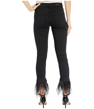 Night Mania Feather Fringe Jean