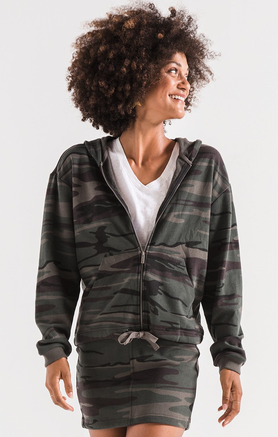 The Camo Knit Hooded Jacket