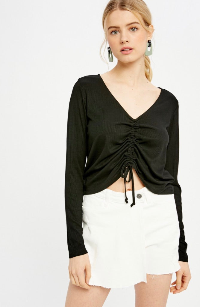 Ava Shirred Center Top