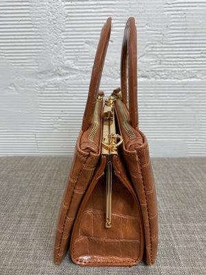 Croco Handle Bag - Brown