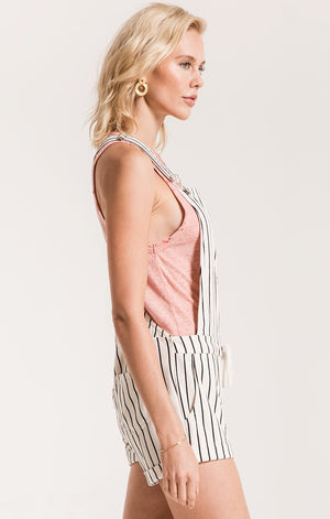 The Pin Stripe Short Overalls