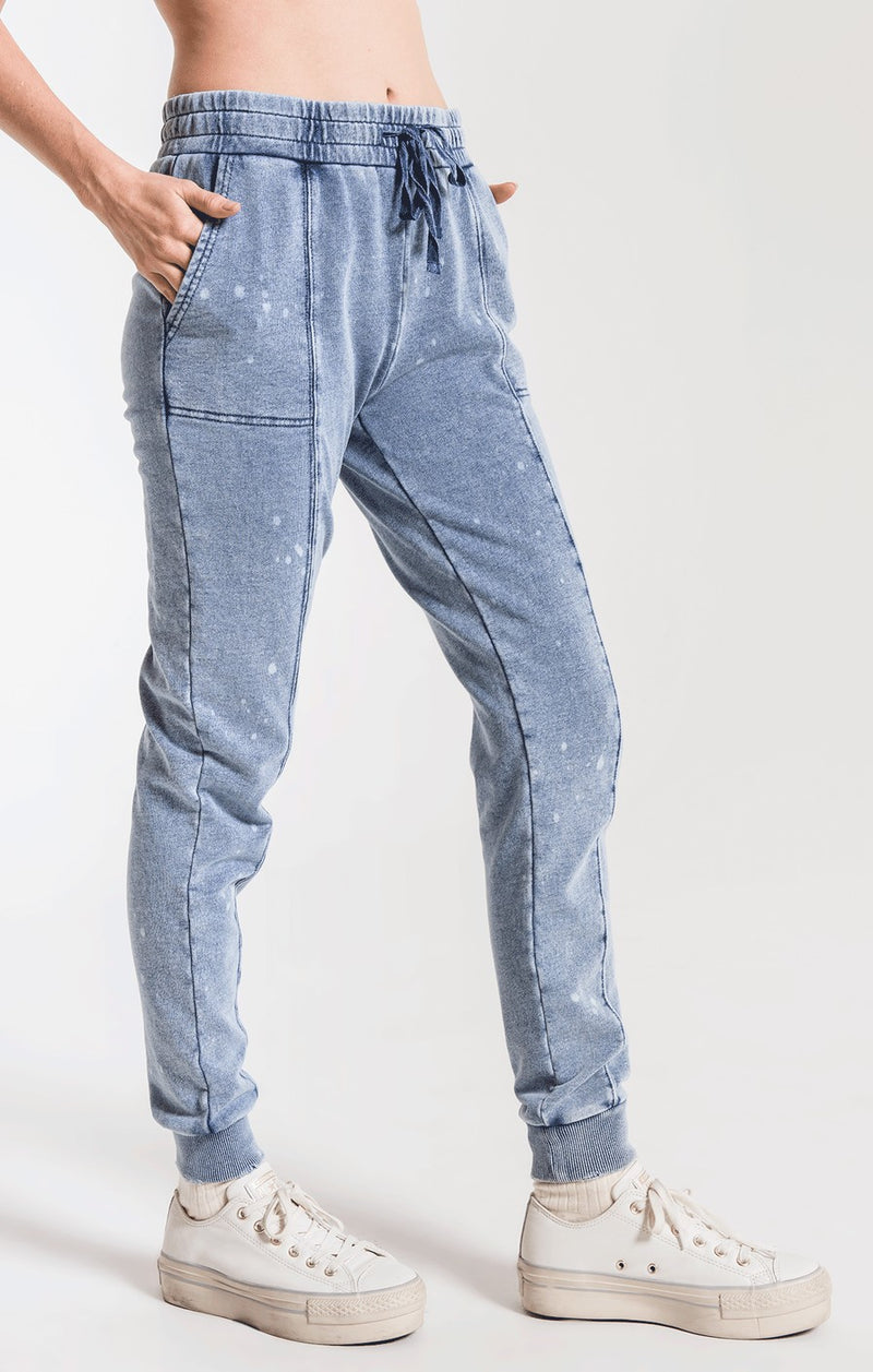 The Knit Denim Bleach Jogger
