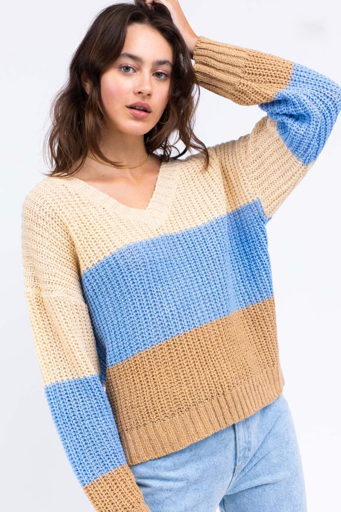 Oceanside Stripe Sweater