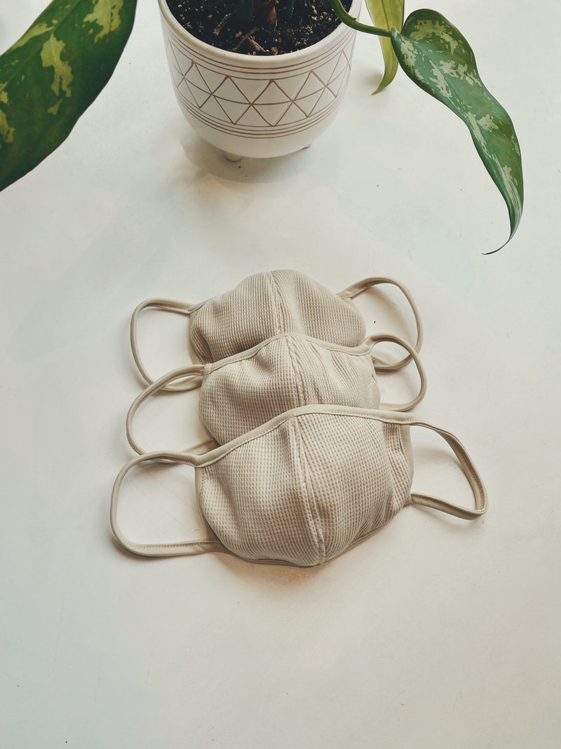 Thermal Cotton Face Mask - Khaki