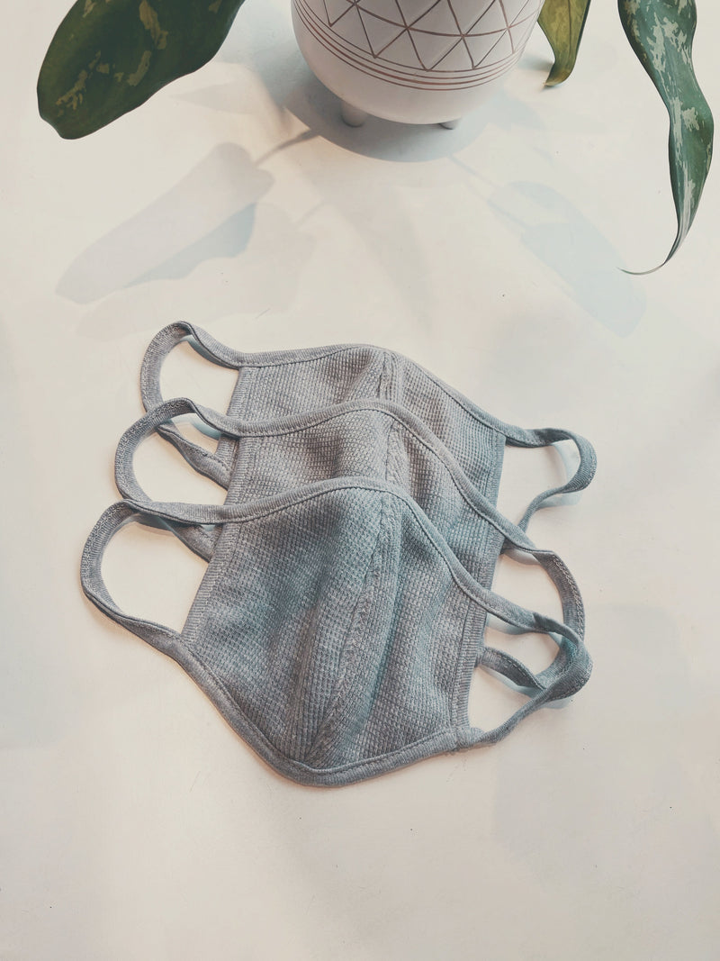 Thermal Cotton Face Mask - Grey