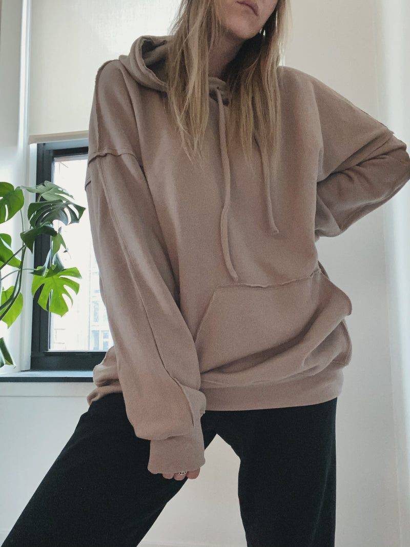 Hang Around Oversized Hoodie - Tan