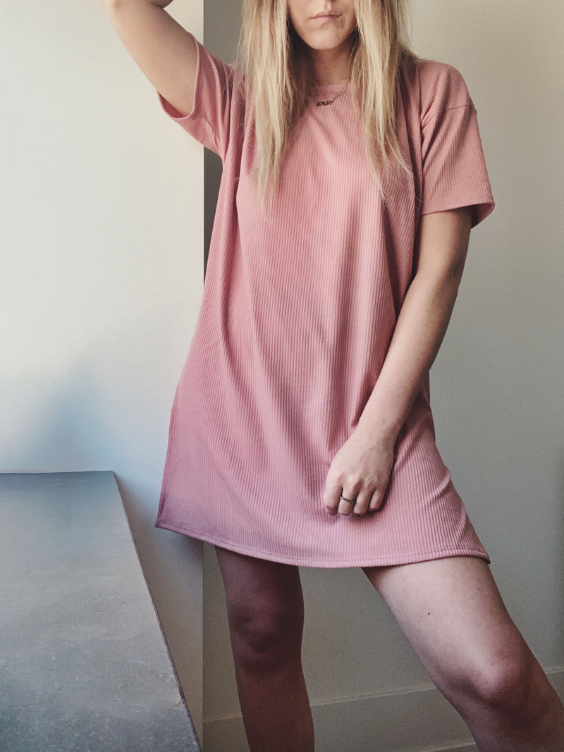 Castaway T Dress - Rose