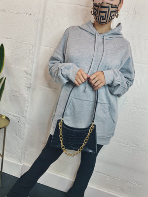Hang Around Oversized Hoodie - Grey