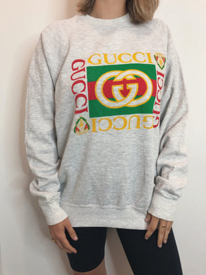 Vintage Bootleg Gucci Crew - Heather